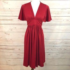 VTG Red Flutter Sleeve Dress